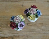 Vintage Aynsley china posy September mixed flowers - Floral display