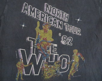 THE WHO 1982 tour T SHIRT