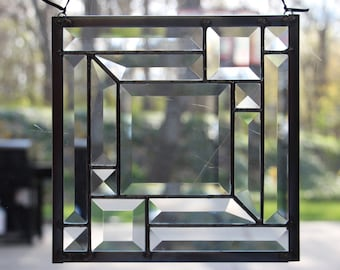 All Bevel Stained Glass Panel