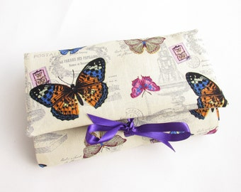 Best friend Gift, 40th Gift, Butterfly Gift, Make Up Organizer, Bridesmaid Gift or Gift for Mother Of the Bride