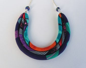 Hot bib necklace/ colorful jewelry/ Summer necklace