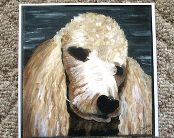Print of original painting by Shirley - Our Dog / Our Best Friend
