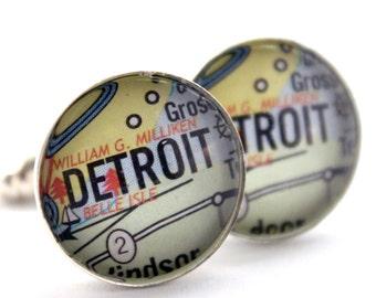 Detroit Map Cuff Links