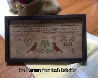 Primitive early style K.D. 1831 Sampler Repro