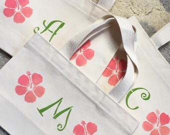 Flower Initial Tiny Tote