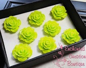 Lime Green Rose Magnets Perfect For Gifts, Stocking Stuffers, Bridesmaids, Shower Favor, Teachers, Housewarming