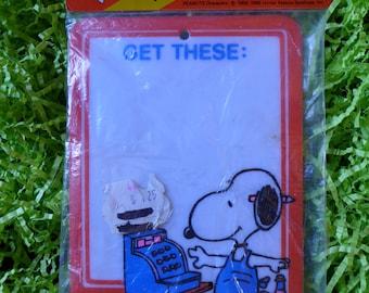 Vintage Peanuts Snoopy Mini Wipe Board Get These List