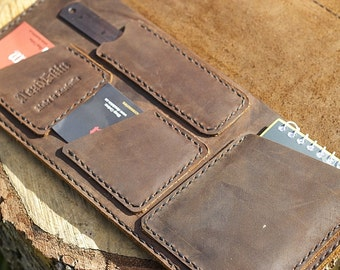 log book cover brown leather truck manual cover