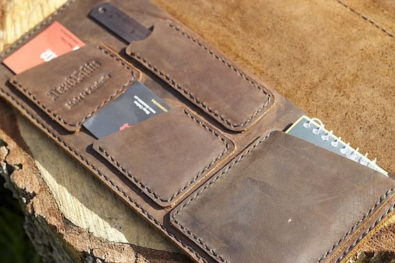 How To Make A Book Cover Out Of Leather : Log book cover brown leather truck manual