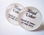 Personalized Wedding Cufflinks, Head Usher Cufflinks,  Silver Wedding Cufflinks, Wedding Outfits, formal wedding attire, groom gifts