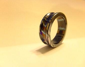 Titanium and Zirconium Mixed Metal Ring Size --11.5
