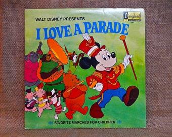 RARE...WALT DISNEY'S - I Love a Parade -1974 Vintage Vinyl Record Album