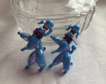Vintage Poodle Pins - Duo Bobble Heads