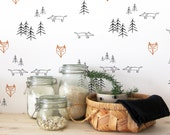 fox wall stencils