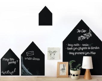 houses - chalk decals