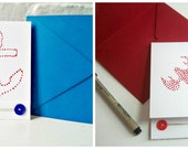 Hand Painted Nautical Cards - Set of 6 - Choose Your Designs - Choose Your Colors - Lobster - Seahorse - Anchor - Maritime Note Cards - Sea