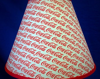 Coca Cola Coke Words Lamp Shade