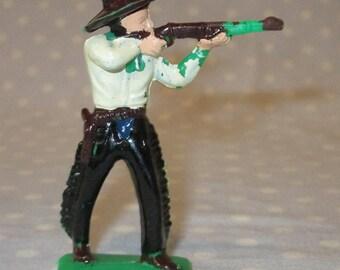 Vintage Tim-Mee Tim Mee Cowboy Toy Gun Rifle Shooting Old West Western Fort Plastic Figure Painted Unique B2