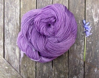 Purple Hand Dyed Sock Yarn - British Breed Sock Yarn - Yorkshire Rose BFL Sock Yarn - 110g - machine washable wool