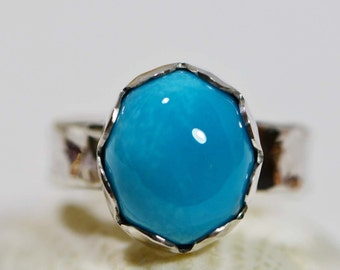 Handmade Turquoise Ring Sterling Silver Jewelry Sleeping Beauty Turquoise Jewelry