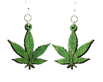 Hemp - Laser Cut Wood Earrings from Sustainable Resources