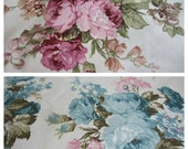 Shabby chic home decor-Pink blue Floral couch pillow,Floral euro sham-Throw pillow covers- cabbage rose- rosette print chair cushion cover