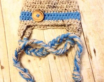 Crochet baby hat, newborn prop, winter hat, baby gift