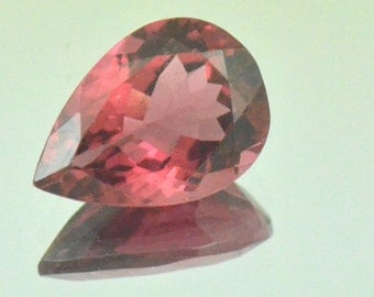 2.37ct 10.8mm Red Pink Tourmaline Marquise Cut 10.8 by 7.6 by 4.5mm