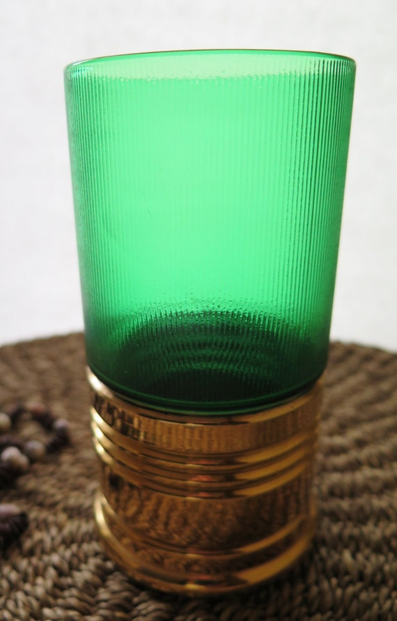 Antique Trader Vic S Big Shot Green Imperial Glass Vintage