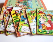 Mother Goose Postcard Set - Nursery Rhymes Storybook Mary Lamb Little Boy Blue Jack Be Nimble Miss Muffet - 9 Sm Note Card Greeting Cards