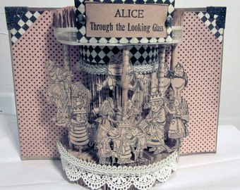 Alice in wonderland Altered Book (1903 ) restored recycled book perfect christmas gift for book lover