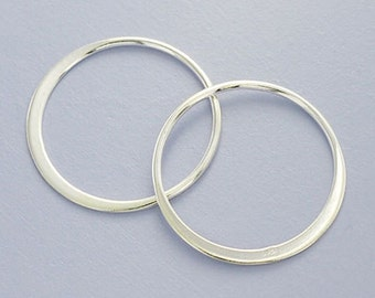 4 of 925 Sterling Silver Circle Links, Connectors 20 mm. :tk0011
