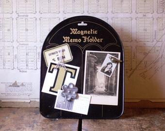 Vintage Black Magnetic Memo Board - Easel Style