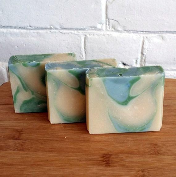 Tea Tree & Rosemary  Soap/ Handmade soap, Tea Tree,  Cold Process Handmade Soap, Natural Soap,  4 oz.