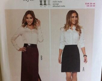 Burda Pattern No. 6895 SKIRT Pattern US Sizes 10-20 Germany straight Skirt Pattern Multiple Sizes Size 10-20 EUR 36-48 Skirt pattern
