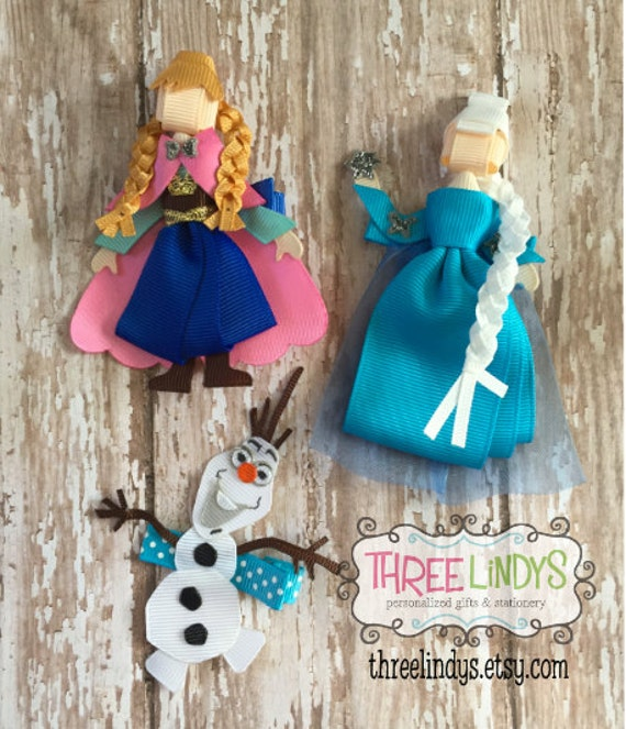 frozen ribbon sculpture items similar to frozen hair clip