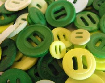 25 Green Ribbon Slides Multi Size Grab Bag