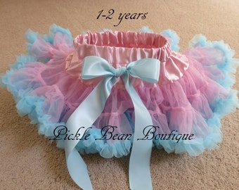 Pink and Blue Pettiskirt - Ready To Ship - 1st Birthday Tutu - Pink Blue Tutu - Baby Girl 1st Birthday Outfit - Girls First Birthday Outfits