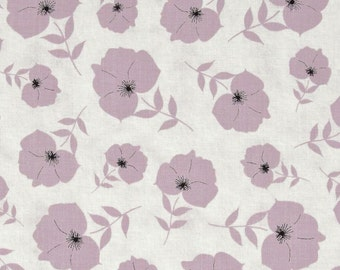 Twilight Tossed Floral Lavender premium cotton quilting fabric designed by Kate Knight for Quilting Treasures