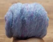 Cornflower Blue Needle Felting Wool, Wool Batting, Batts, Wet Felting, Spinning, Dyed Felting Wool, Light Blue, Fiber Art Supplies