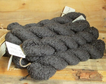 Charcoal Gray worsted weight cotton yarn, 150 yds,Gray yarn, Cotton yarn, Reclaimed yarn, knitting yarn, upcycled yarn, dark gray yarn
