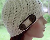 Vintage Inspired Beanie Hat Beanies Womens Hat Teen Hat Spring Fashion Swirl Hat Gatsby Style Womans Cloche Crochet Hat