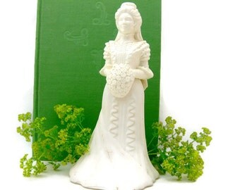 "Bridal Cake Topper - Wedding Floral Display - Vintage Avon Bridal Moments Bottle ""Sweet Honesty"" Decanter"