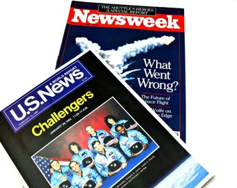 Space Shuttle Challenger Disaster - U.S. News and Newsweek Feb. 10, 1986 - Astronaut Heroes