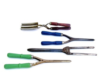 Antique Curling Irons Vintage Hair Stylist Tools Victorian Hair Curler Crimper Set of 4