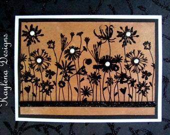 Wild Flowers Blank Card