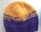 Custom Knitted Two-Color Beanie