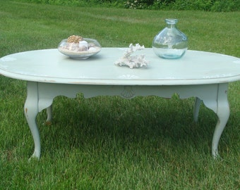Beach Cottage Queen Anne Style Coffee Table