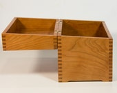Cherry wood recipe box
