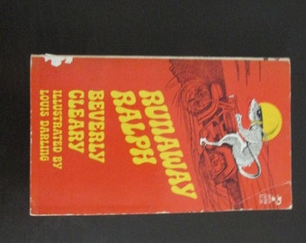 Vintage Paperback Book Runaway Ralph by Beverly Cleary